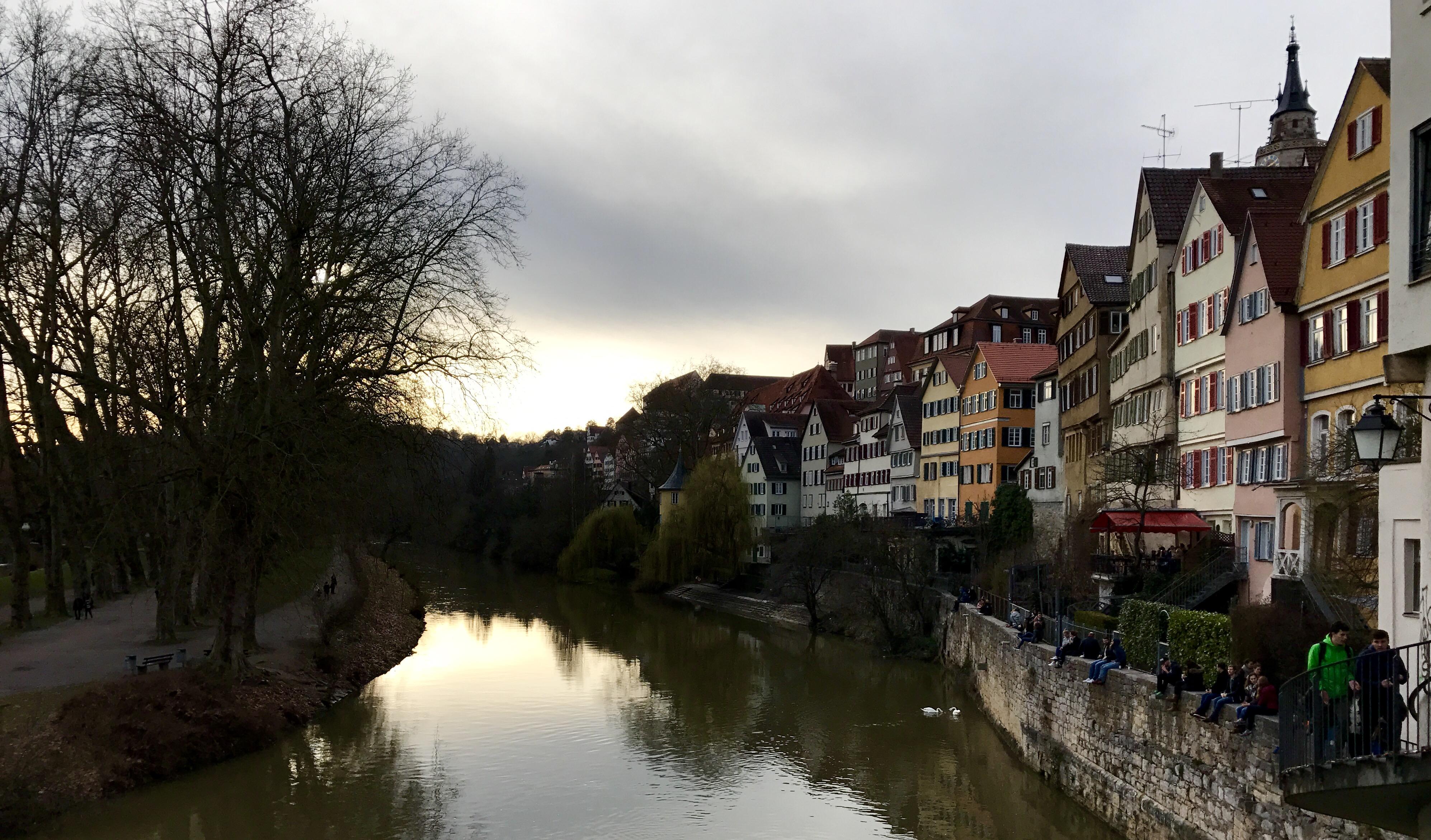 Foto vom Ausblick der Neckarbrücke